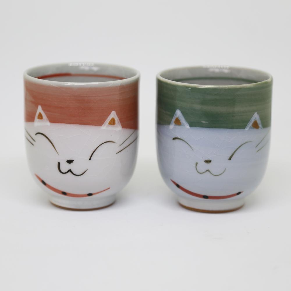 猫湯呑み(瀬戸焼ニャンコ)全2種類