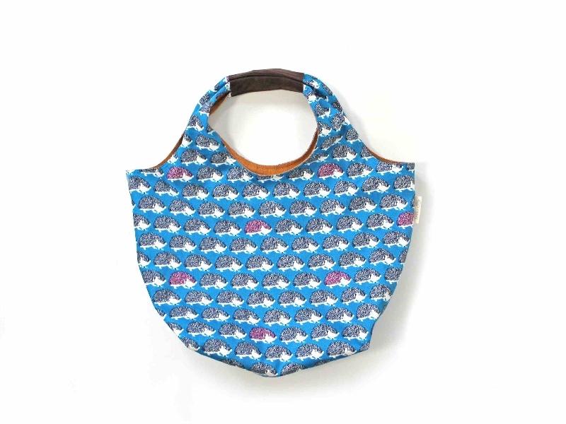 おでかけバッグ おさんぽハリネズミ ブルー