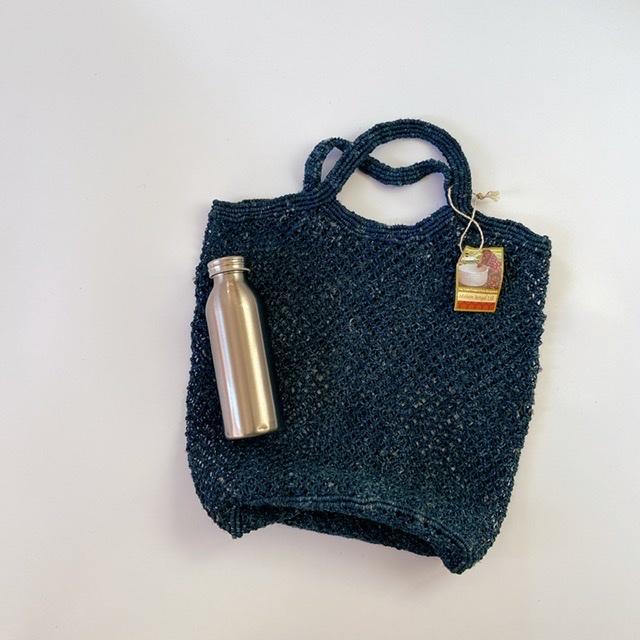 【リサイヒ】おとな未使用 フェアトレードのリネンバッグ