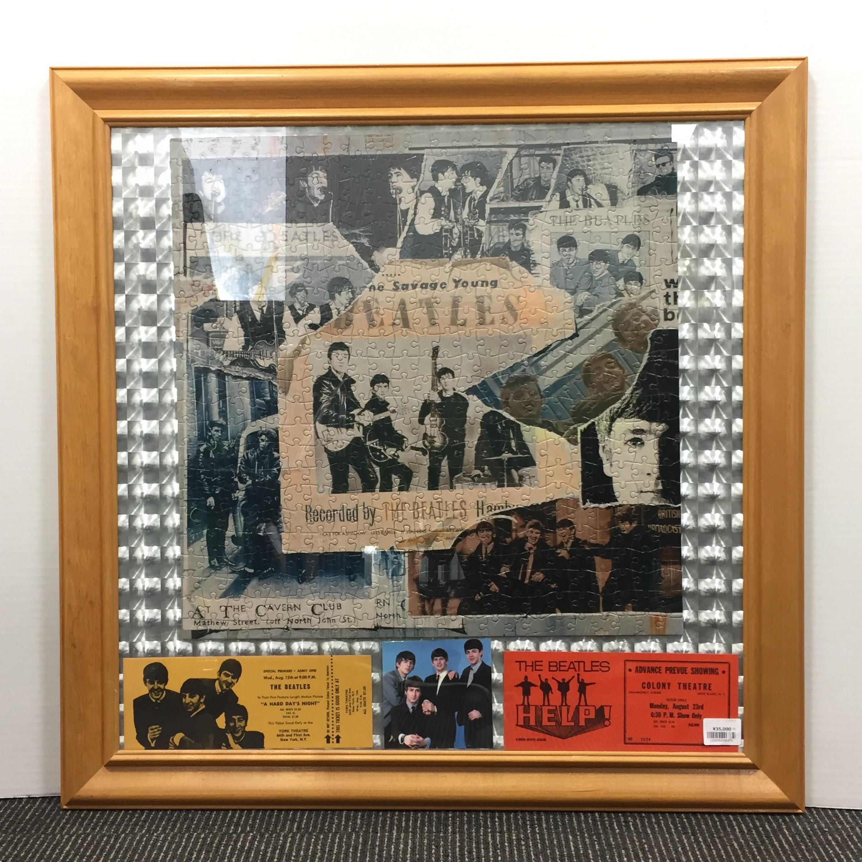 品番6372 The Beatles ビートルズ 壁アート チケットアート 額装 ヴィンテージ 011