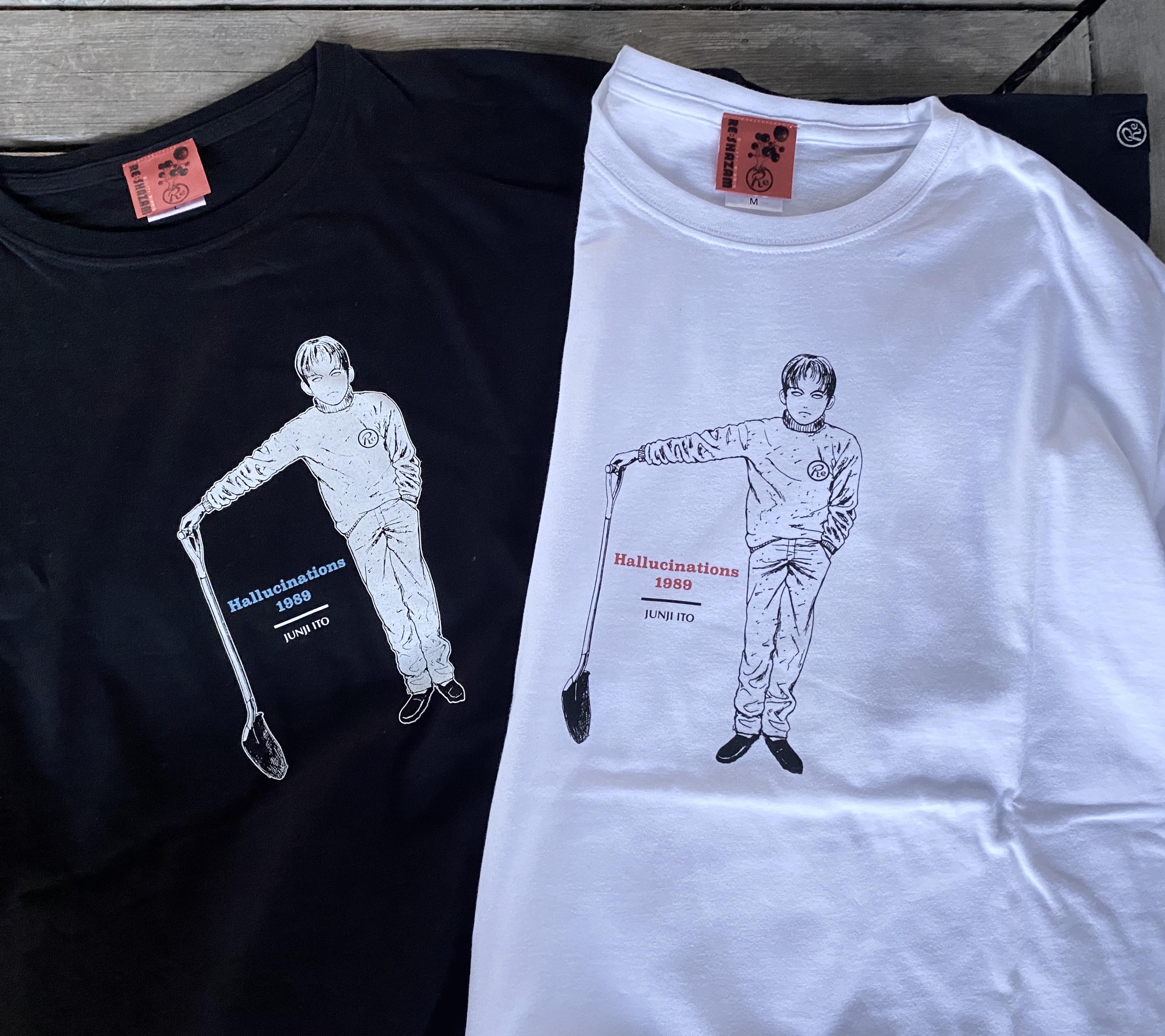 〈伊藤 潤二〉押切異談-首幻想- Tシャツ(WHITE)