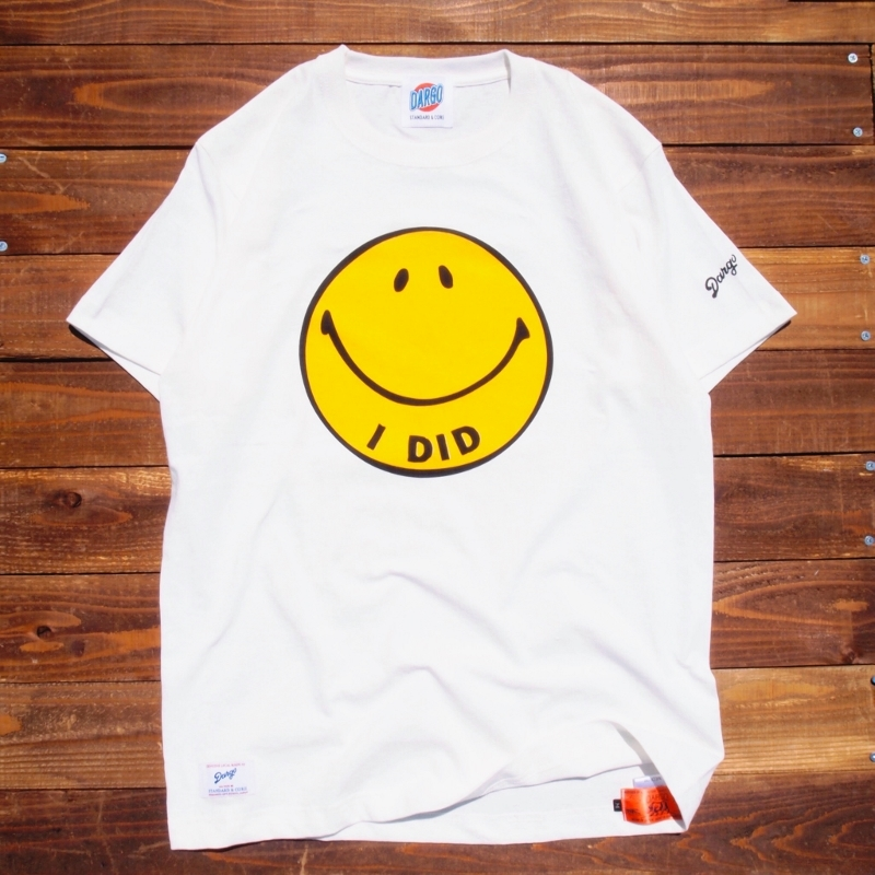 """【DARGO】""""I DID"""" Smile Face T-shirt (NATURAL)"""