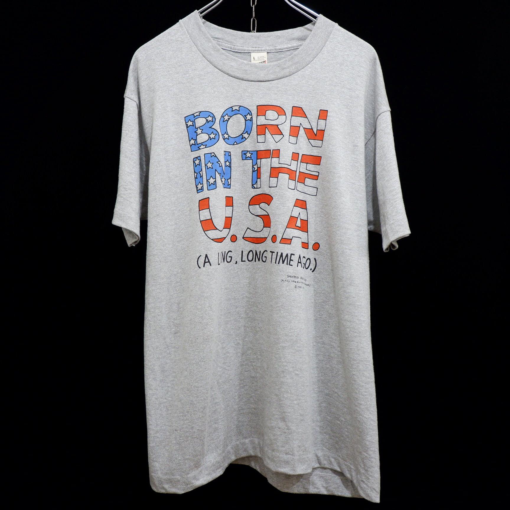 アメリカ古着 1980s vintage メッセージ プリント Tシャツ