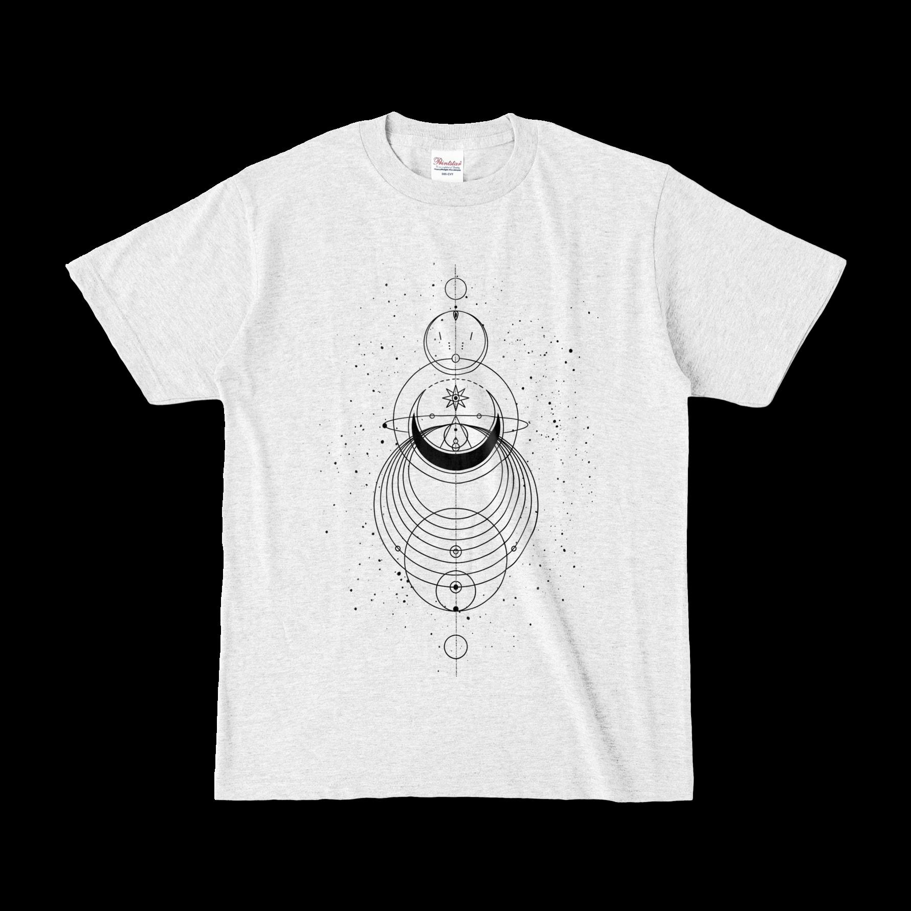 Geometric オリジナルデザインTシャツ アッシュ