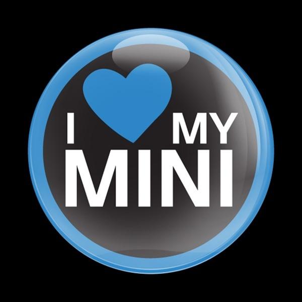 ゴーバッジ(ドーム)(CD0286 - I LOVE MY MINI BLUE) - 画像1