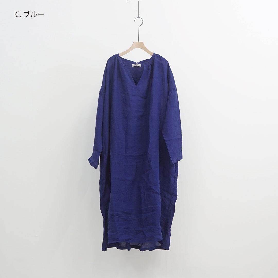ICHIAntiquites イチアンティークス LINEN AZUMADAKI DRESS リネン東炊きワンピース (品番600131)