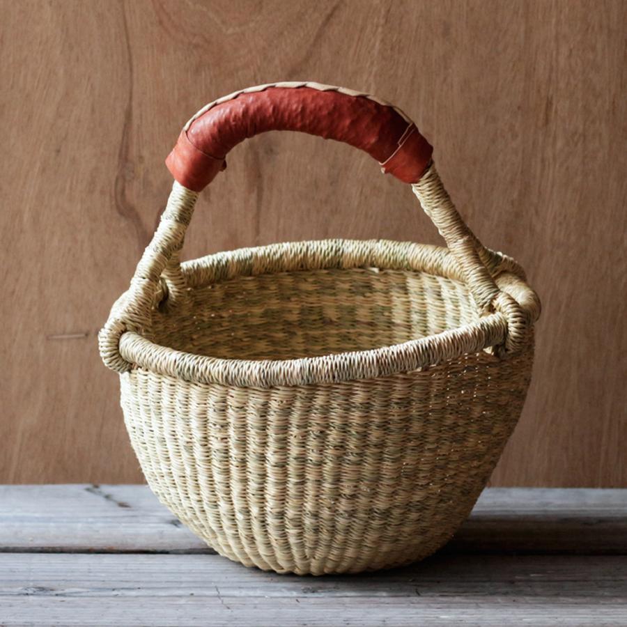 ガーナの手編み ボルガバスケット / 小 K