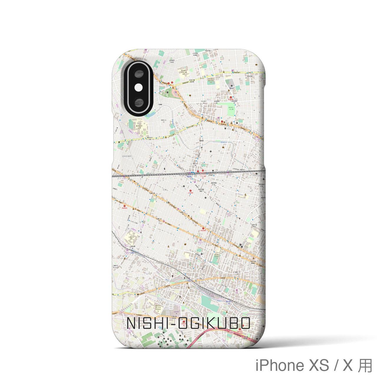 【西荻窪】地図柄iPhoneケース(バックカバータイプ・ナチュラル)