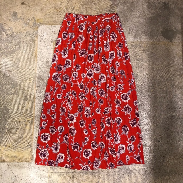 ANGIE Floral Long Skirt