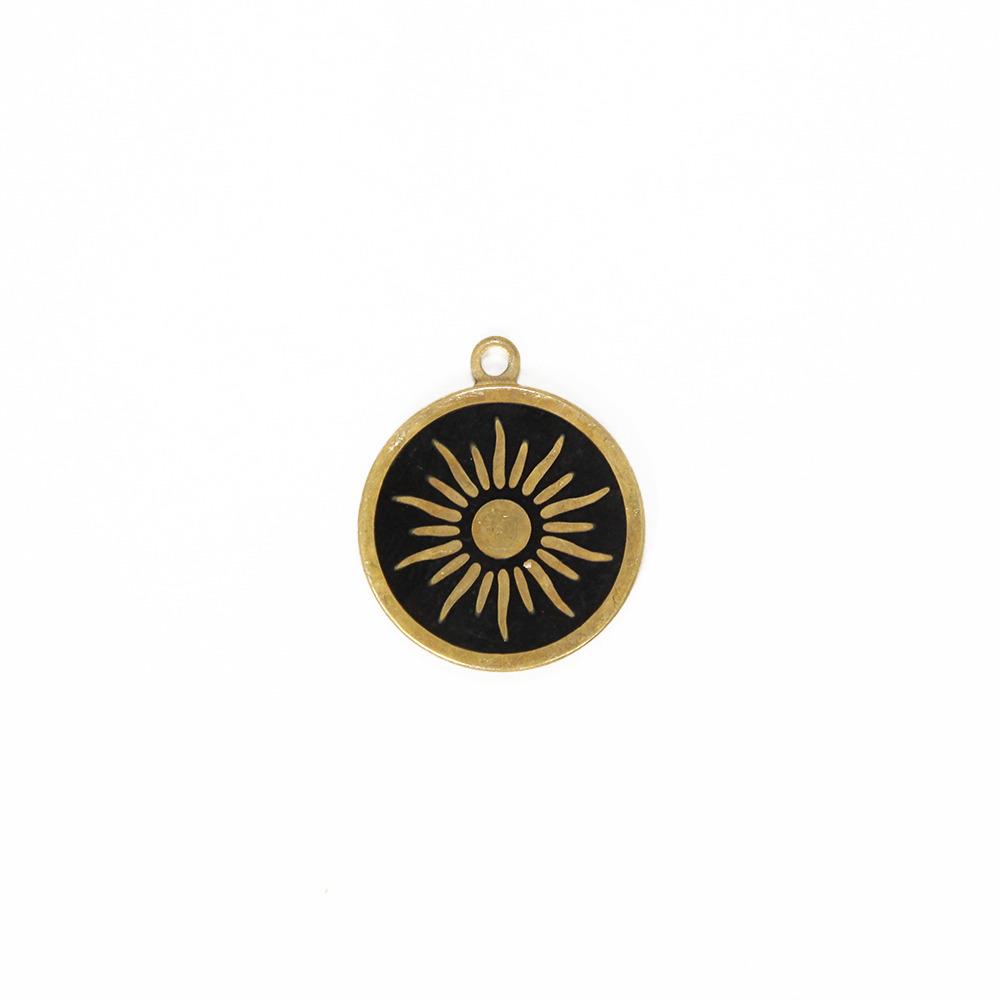 【20ヶset】太陽メダル 19.5MM