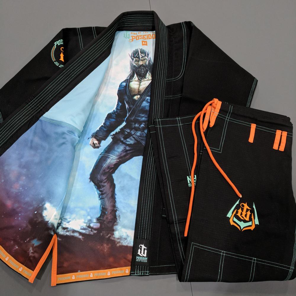 WAR TRIBE GEAR POSEIDON GI ブラック|ブラジリアン柔術衣(柔術着)