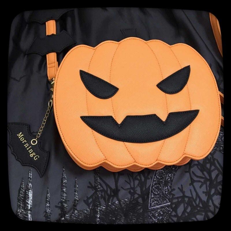 【在庫限り】<ハロウィン>ジャックオーランタンパンプキンロリータクロスボディーバッグ