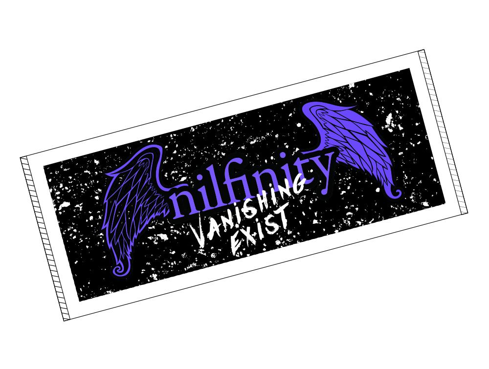 """タオル""""紫の羽"""" / nilfinity"""