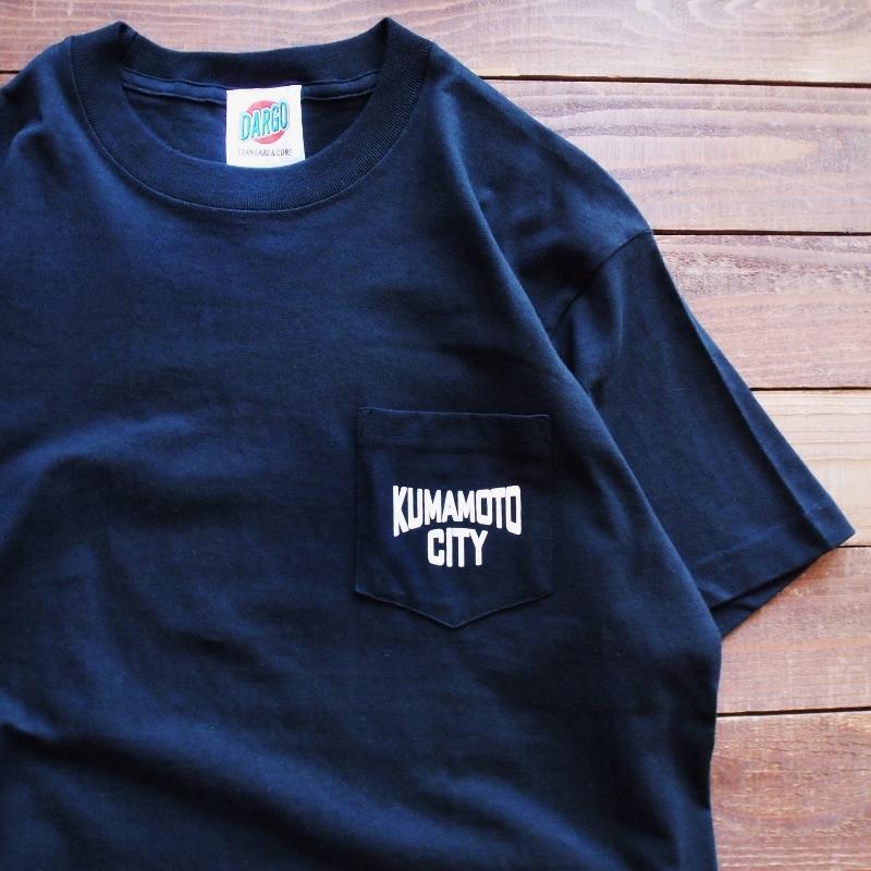 "【DARGO】""KUMAMOTO CITY"" Pocket T-shirt (BLACK)"