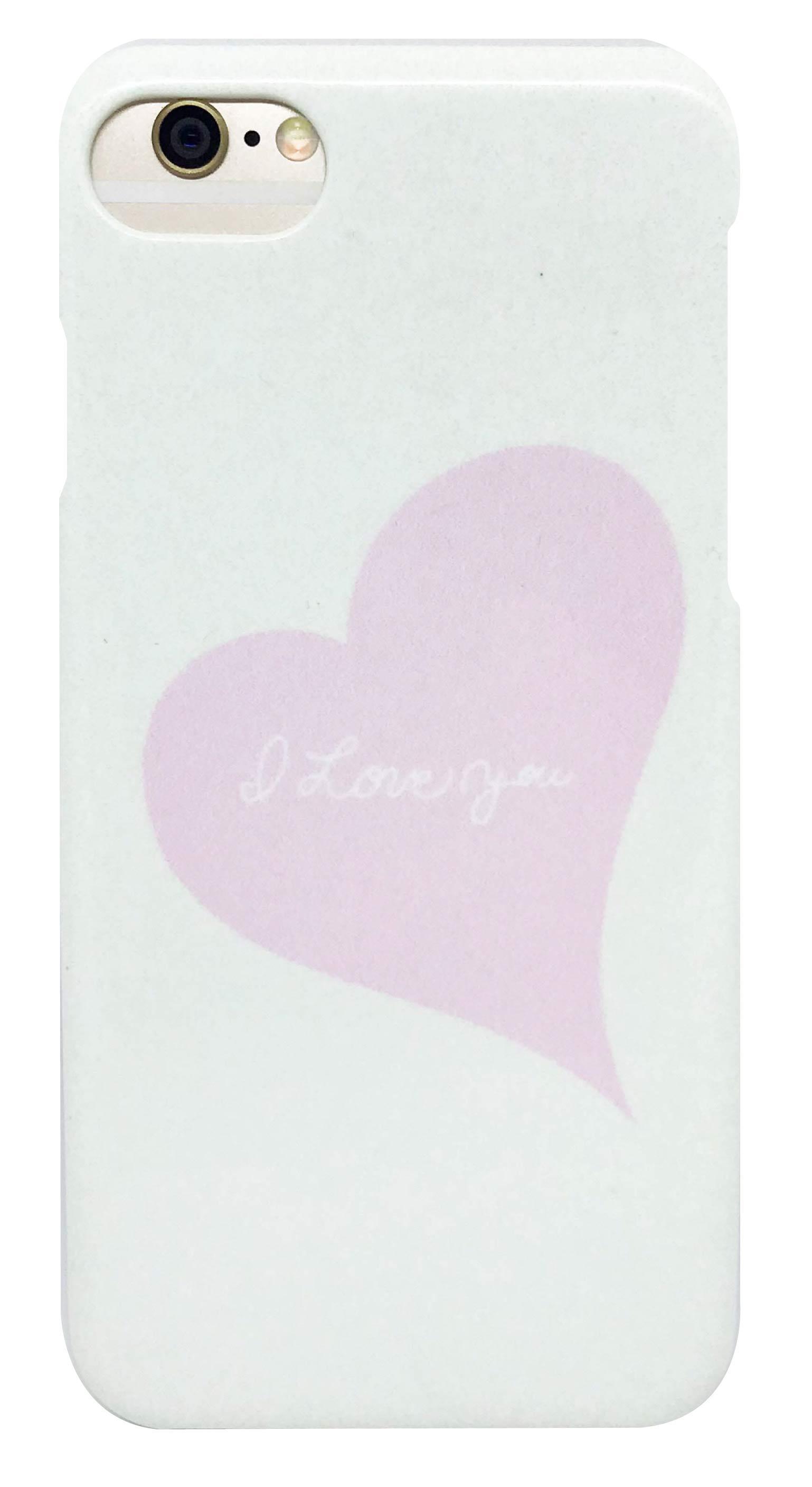 ハート 「I LOVE YOU」・ ピンク つや有り ハード ケース