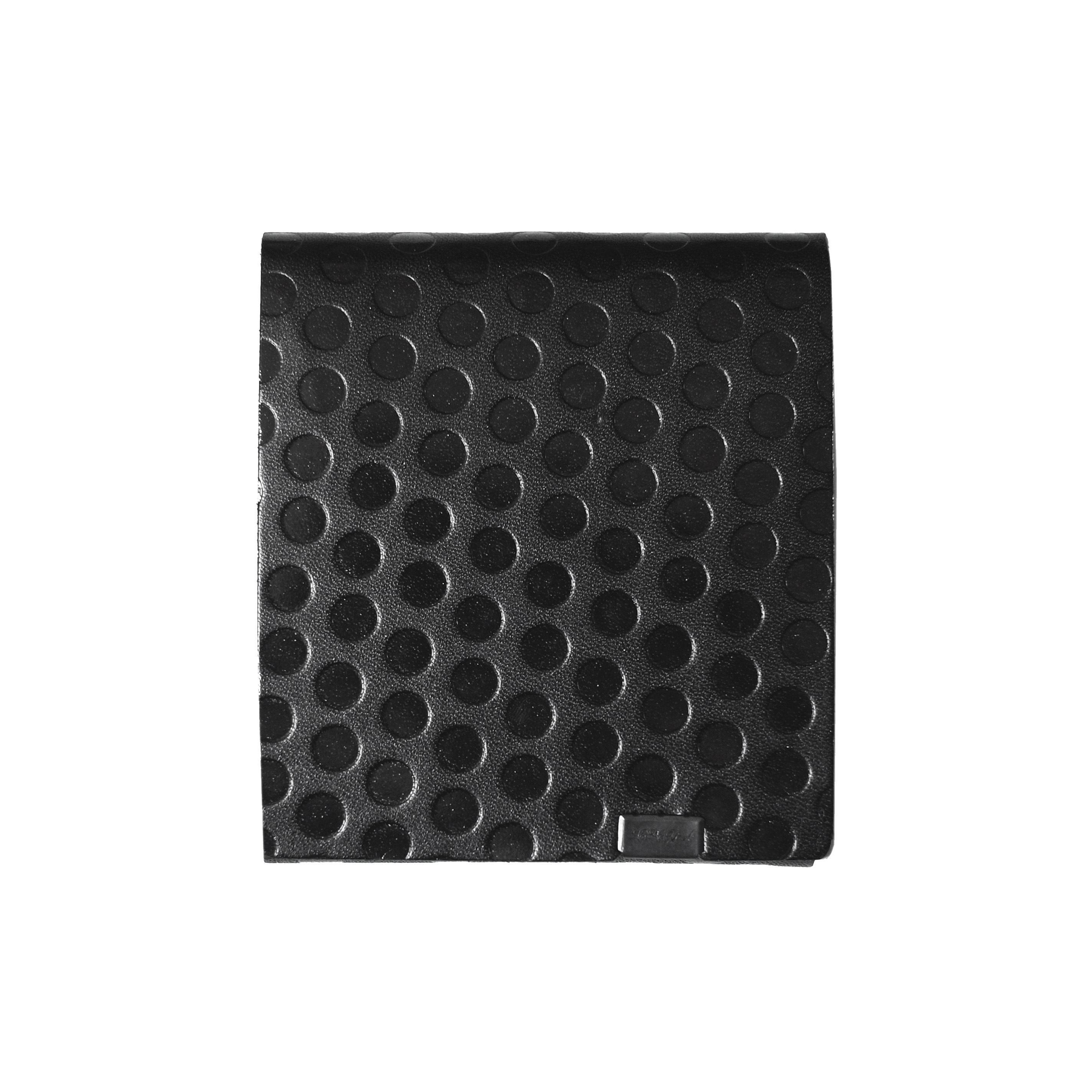 PolkaDot -ショートウォレット2.0- ブラック×ブラックドット