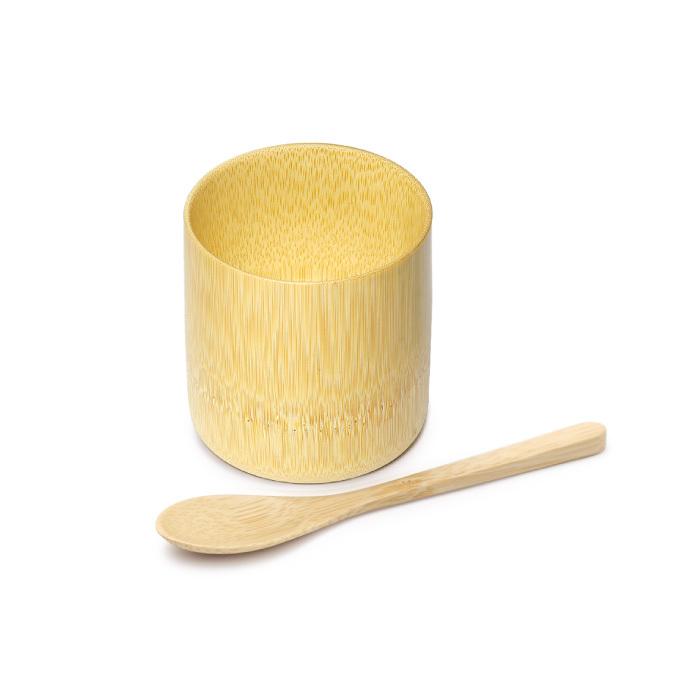 白竹の器とスプーンセット 【60-022】