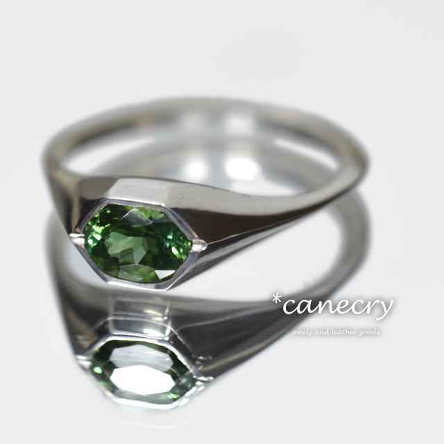 グリーントルマリンのリング