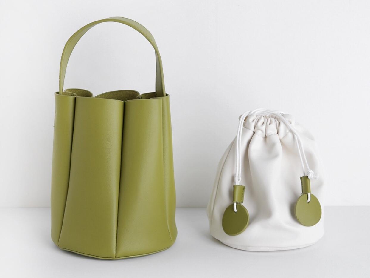 bucket bag olive green