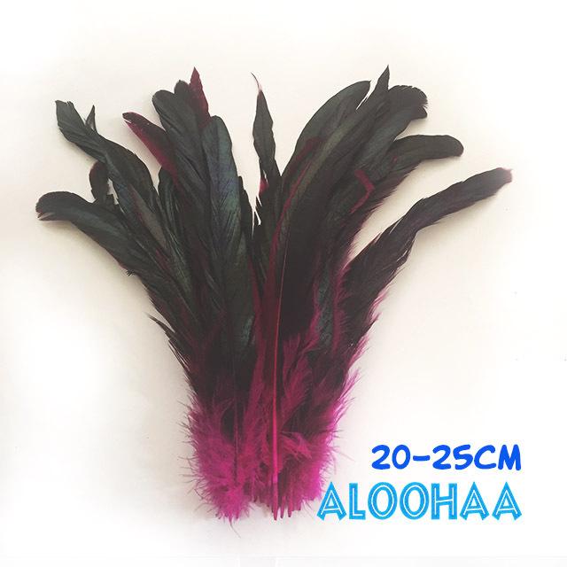 ロングフェザー 【ピンク】20-25cm タヒチアン 衣装 材料 ルースターテール 染め 羽根
