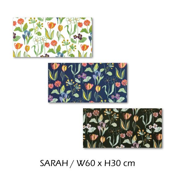 北欧生地 ファブリックパネル 横60 cm x 縦30 cm Kinnamark SARAH 受注販売商品 (100926)