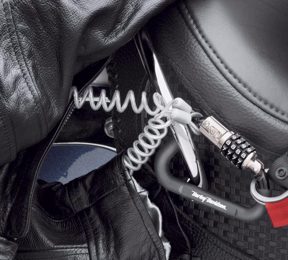 ヘルメットロック用セキュリティケーブル