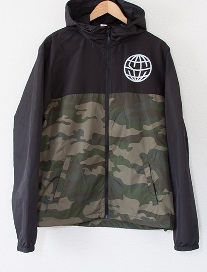 【STATE CHAMPS】Globe Windbreaker (Black/Camo)