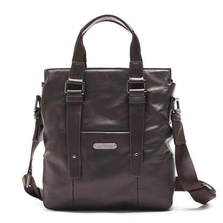 IUHA ★牛革本革2way メンズビジネスバッグ レザー茶色 黒色/かばん/通勤用/鞄  mb1102011100