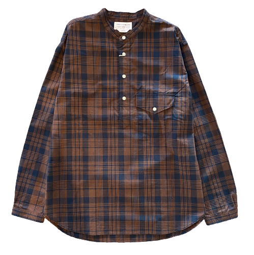 ENDS and MEANS/Band Collar P/O Shirts