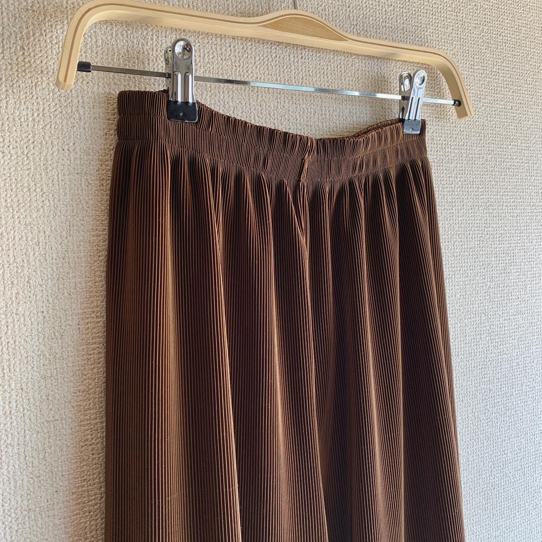 【SALE】vintage chocolate brown gather pants