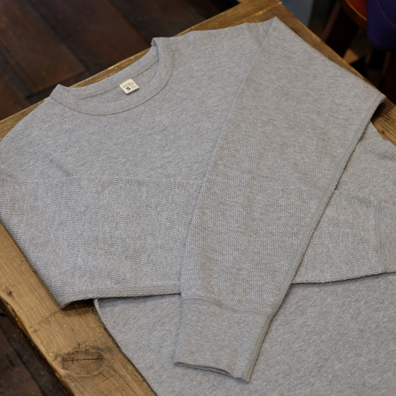 Workers(ワーカーズ) サーマルロングTシャツ クルーネック グレー