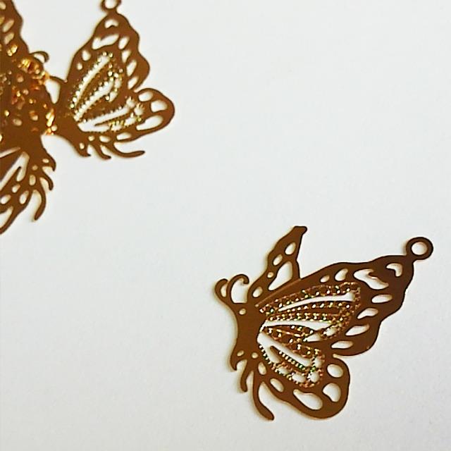 高品質メタルパーツ・蝶々 [H01-022]