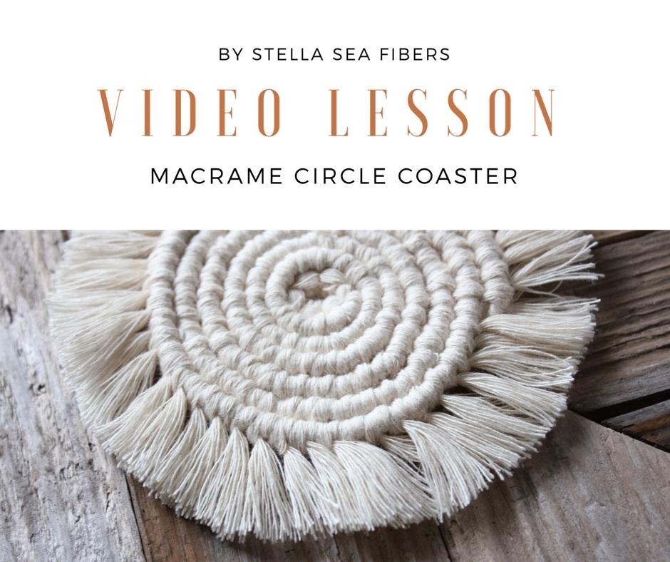 材料なし《VIDEO CLASS》マクラメサークルコースター 動画+PDF付き