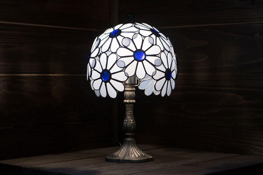 花てまり(ステングラスのテーブルランプ) 01020212