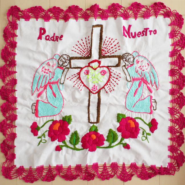 祈りの天使の刺繍クロス /115/ MEXICO