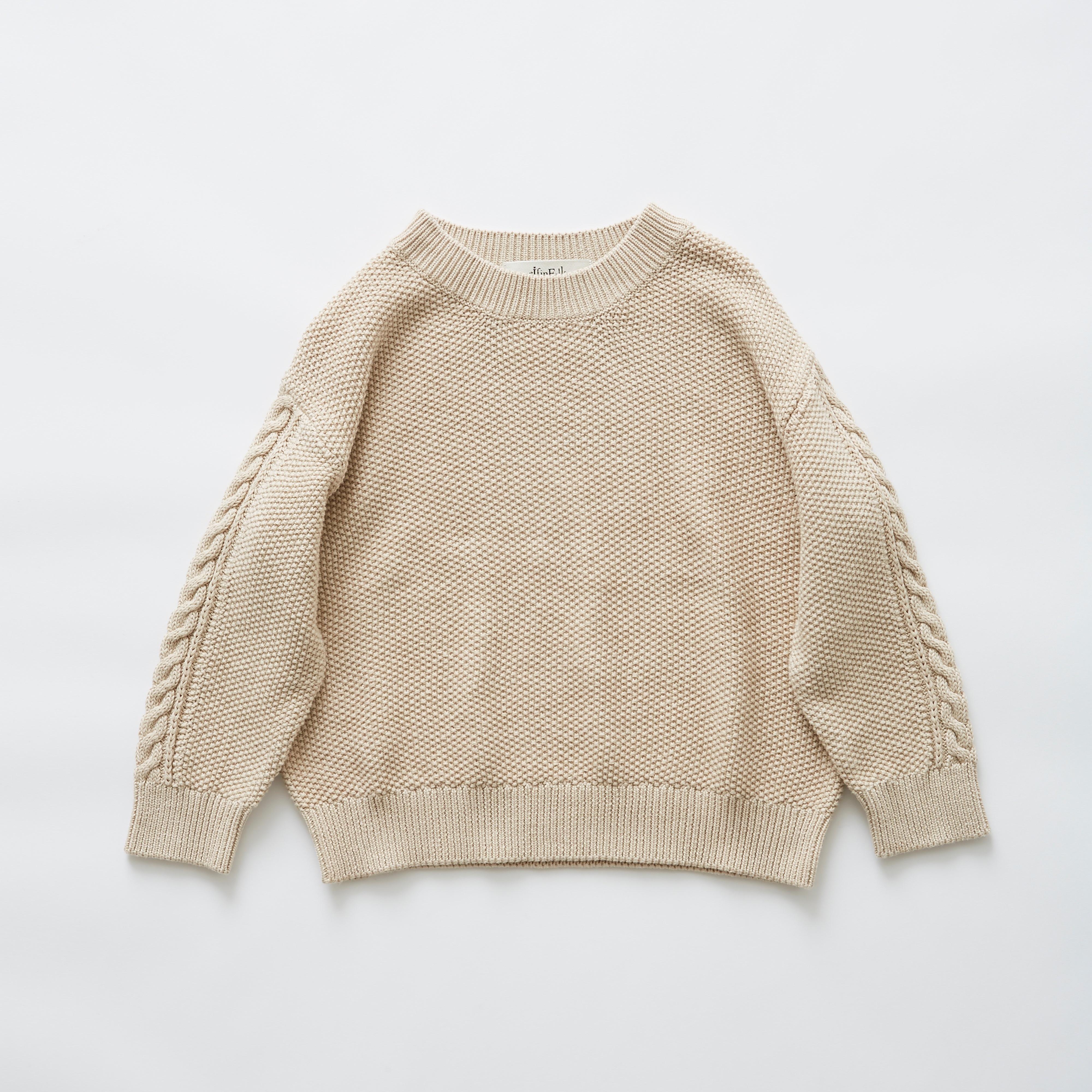《eLfinFolk 2019SS》moss stitch sweater / ivory / F(大人)