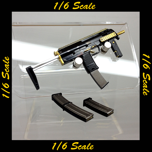 【02139】 1/6 DAMToys H&K MP7 ゴールド