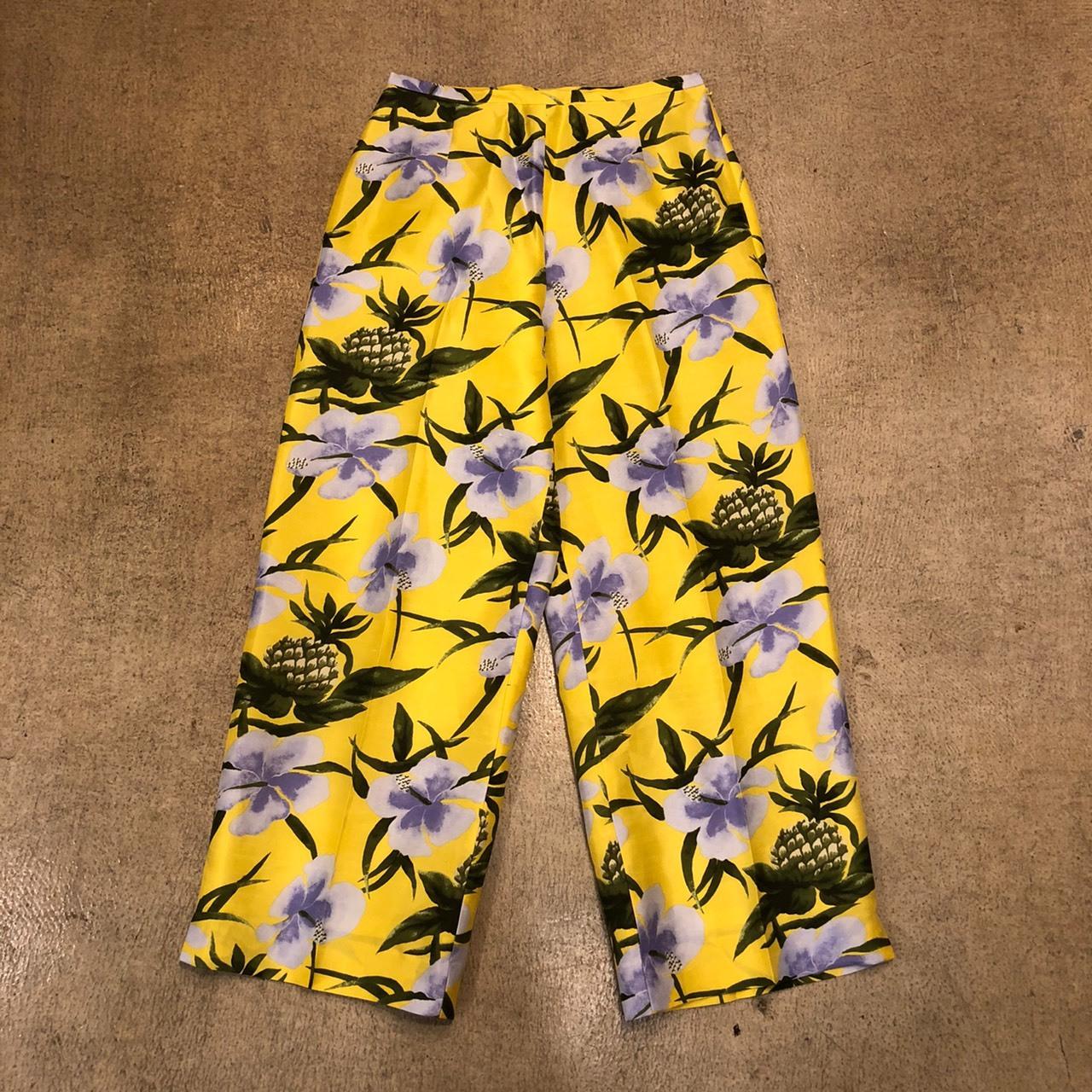 Hibiscus Silk Pants ¥5,200+tax