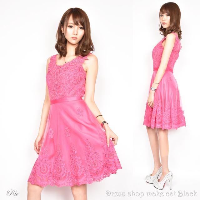 SALE (Sサイズ) ミニドレス  ビジュー刺繍 ドレス パーティー フレアミニキャバドレス 二次会 0250