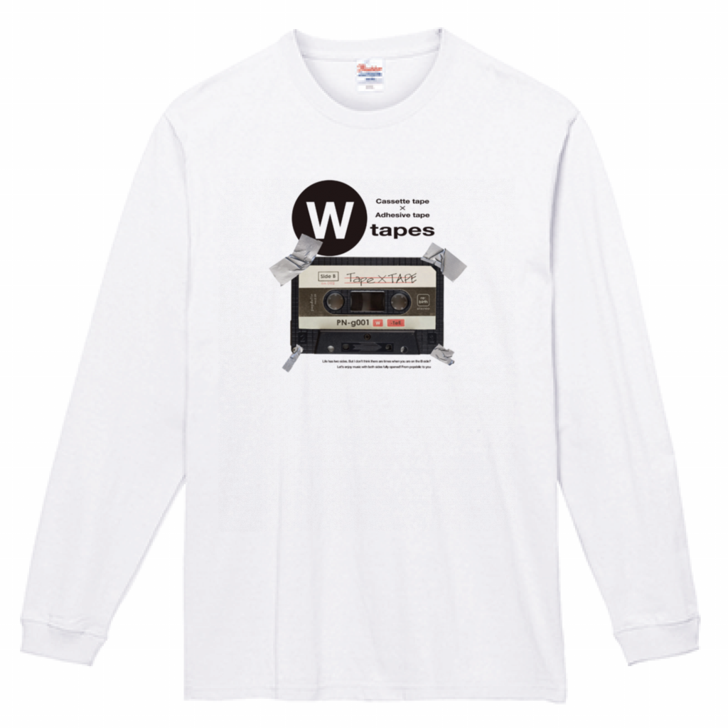 TAPE×TAPE ロンTEE / White