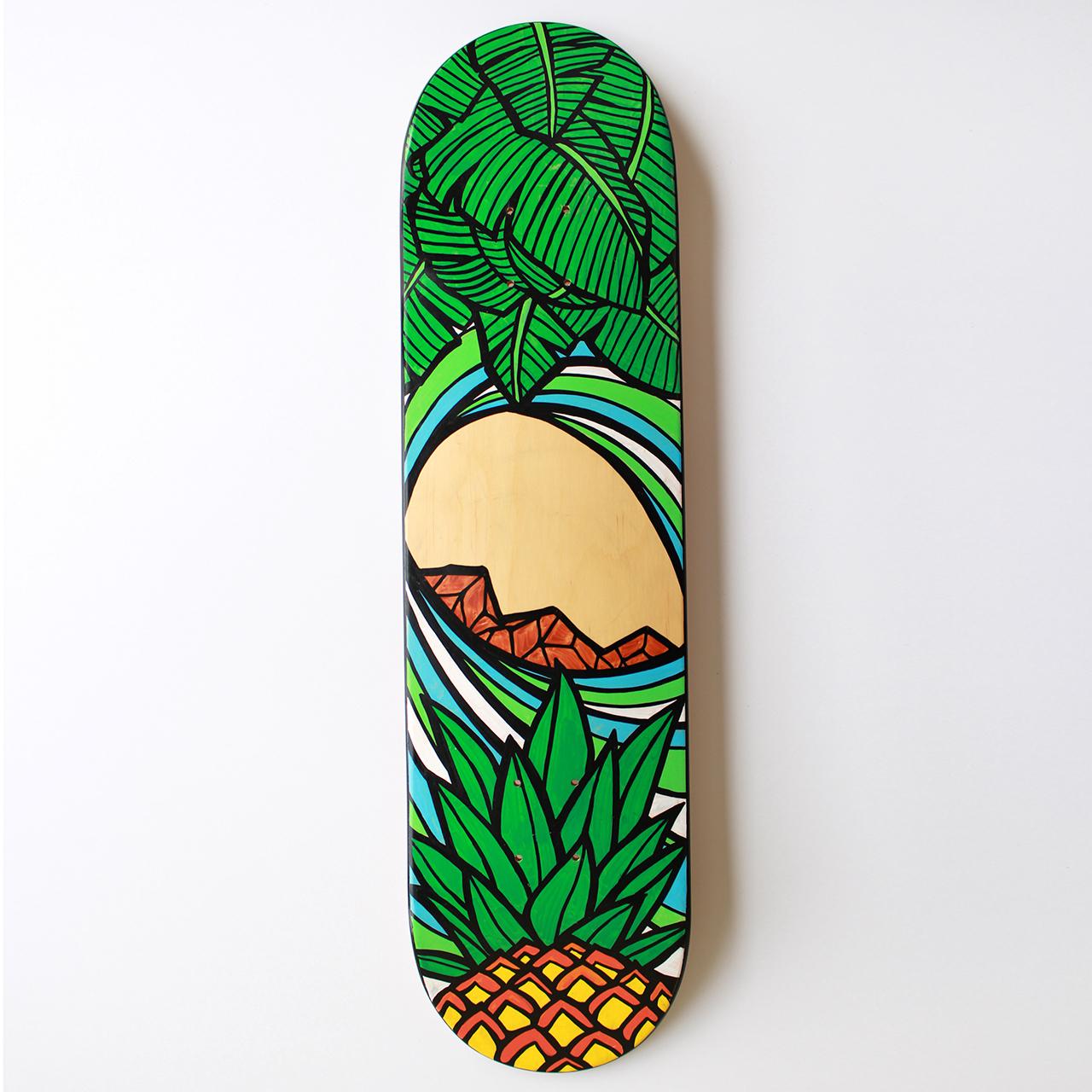 【原画】スケートボードデッキ(Pineapple Tube)