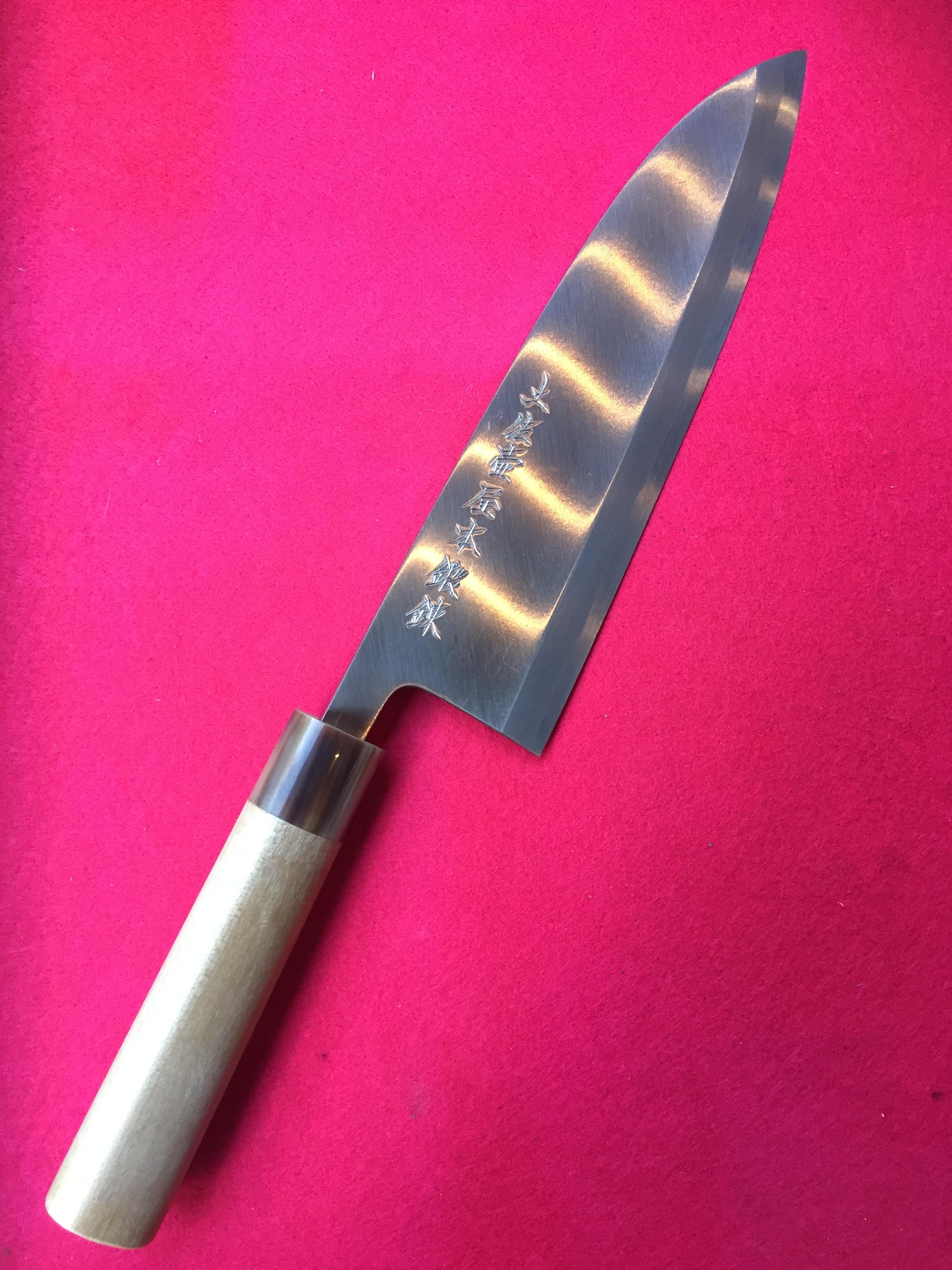 出刃包丁 8寸 (安来白鋼・片刃)
