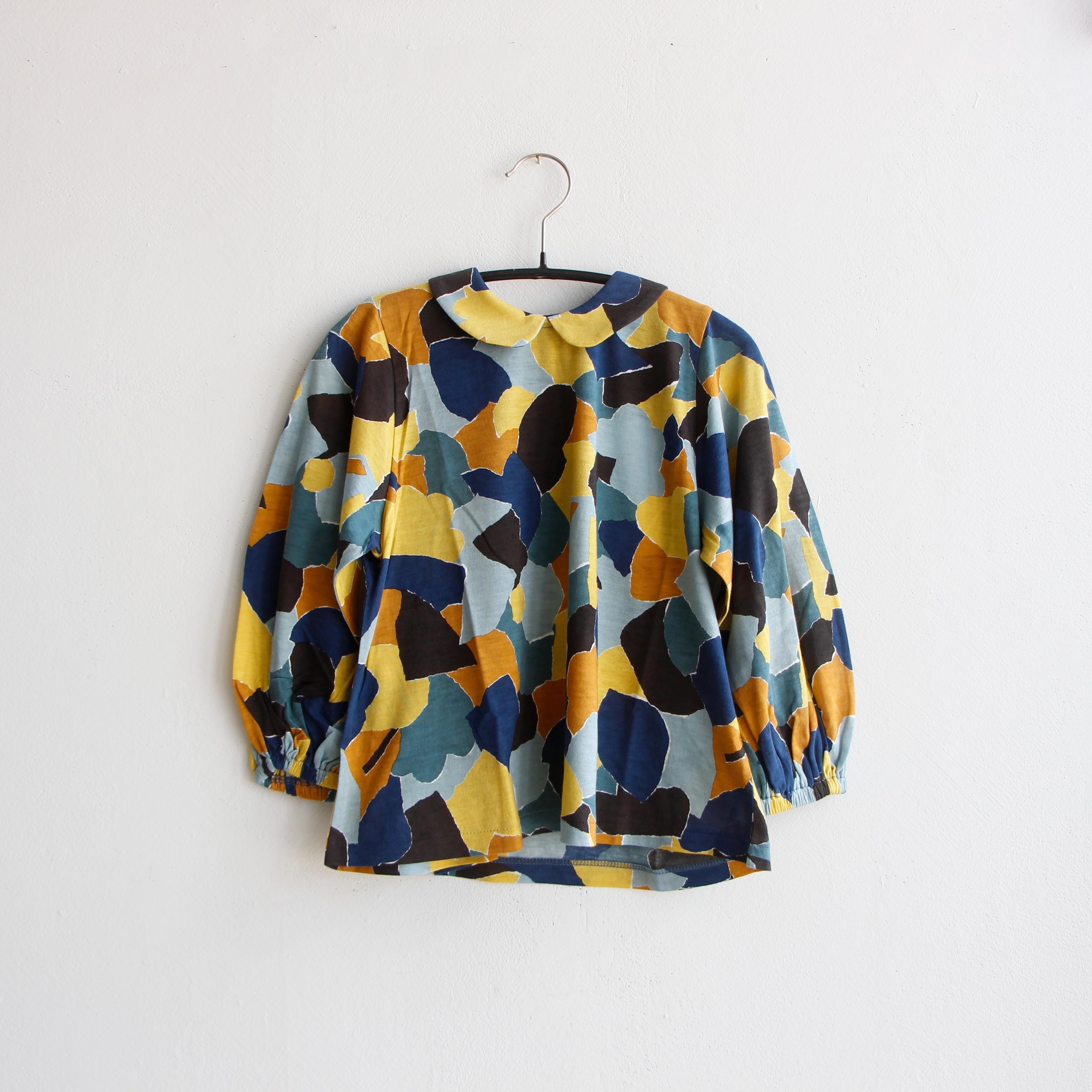 《mina perhonen 2020AW》foliage 長袖カットソー / yellow mix / 80-100cm