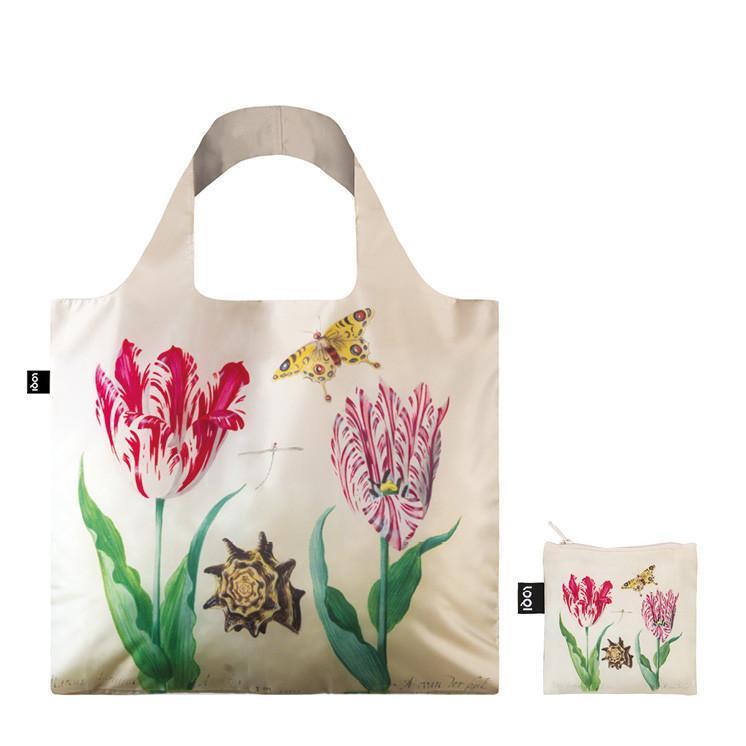 LOQI エコバック JACOB MARREL Two Tulips, 1637-45 & IRMA BOOM DNA 03 Bag