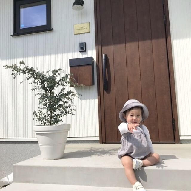 〈 195 〉Check babyサロペット