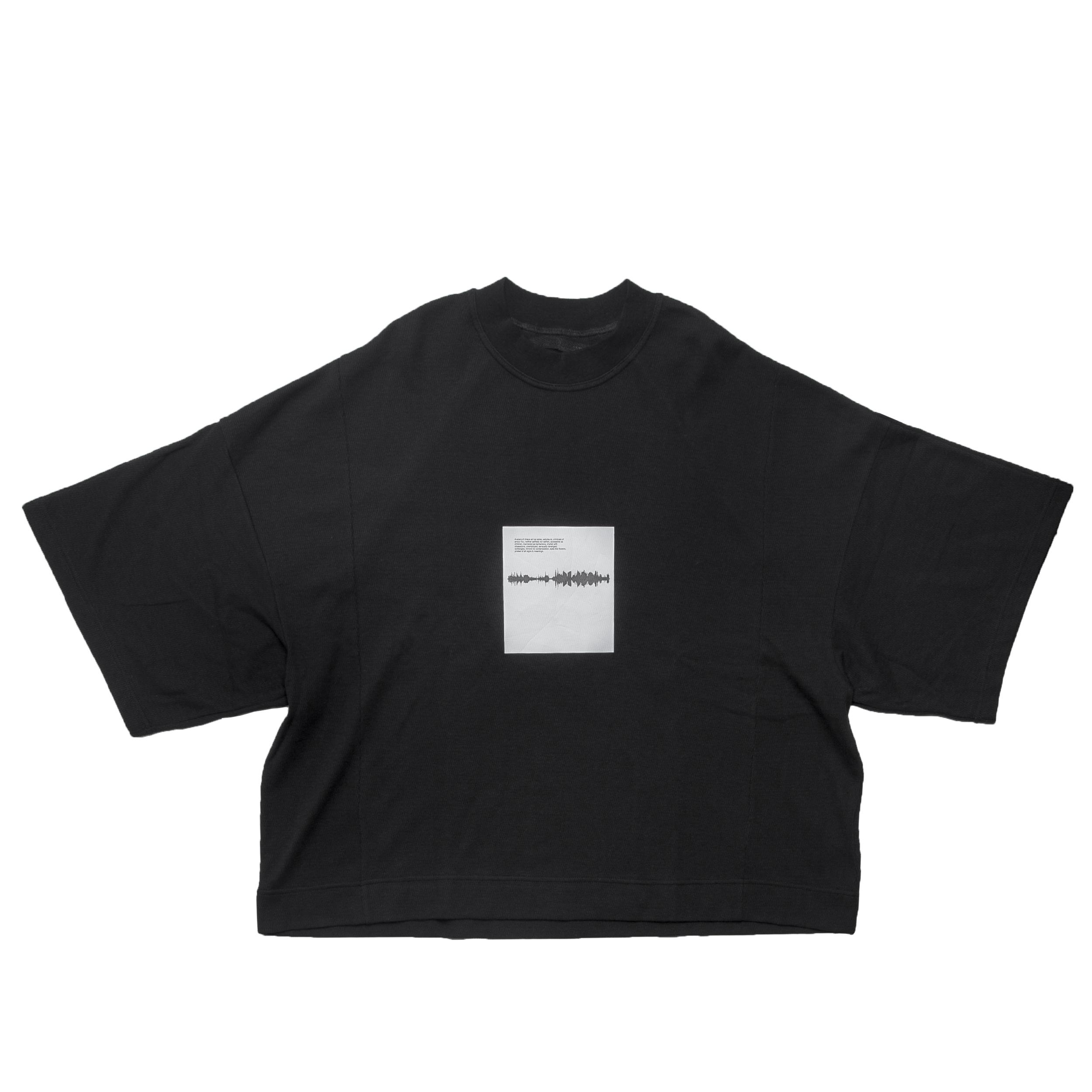 677CPM14-BLACK / Shaped Noise ボックス Tシャツ