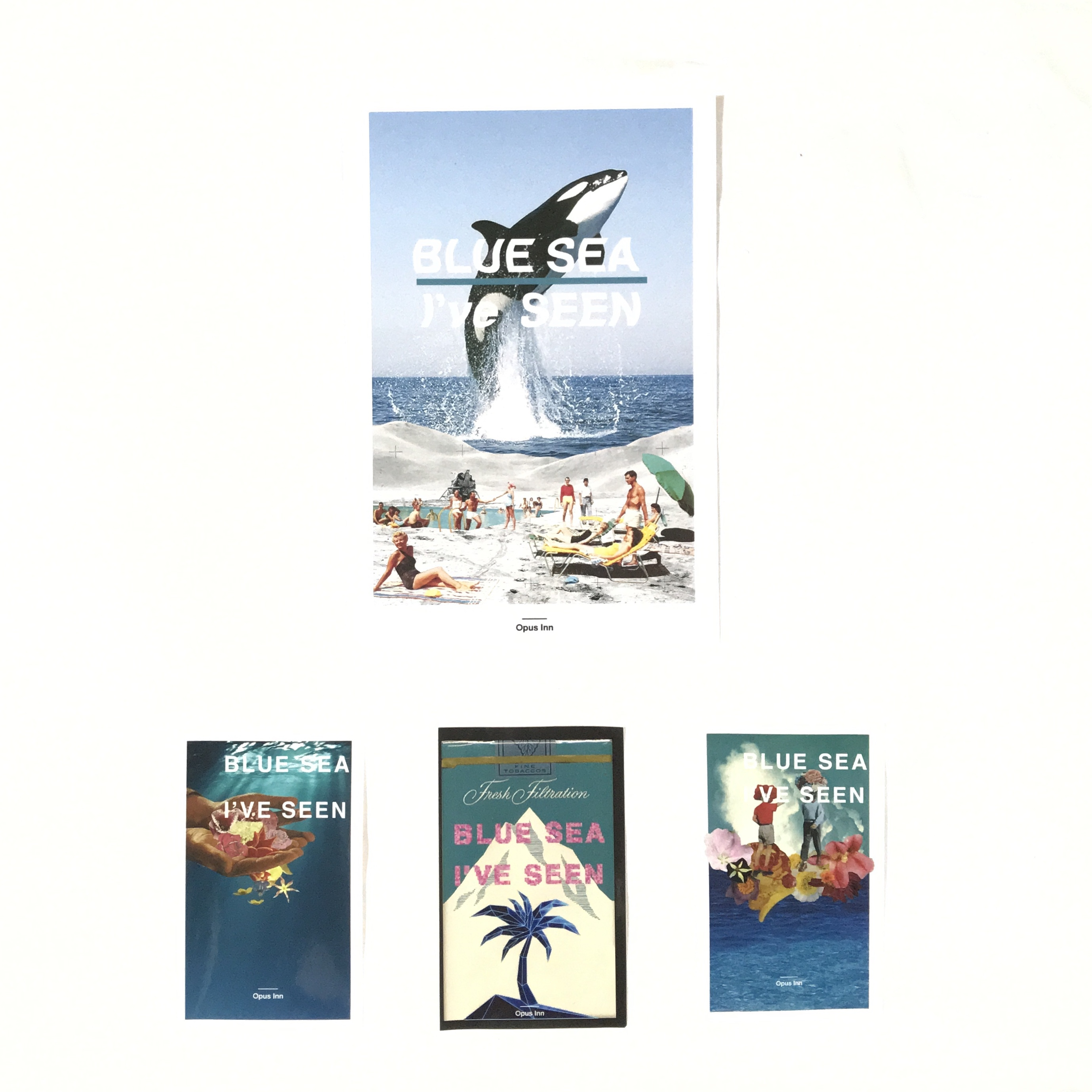 【Postcard +3 Stickers SET】''BLUE SEA I've SEEN'' [2 SET]