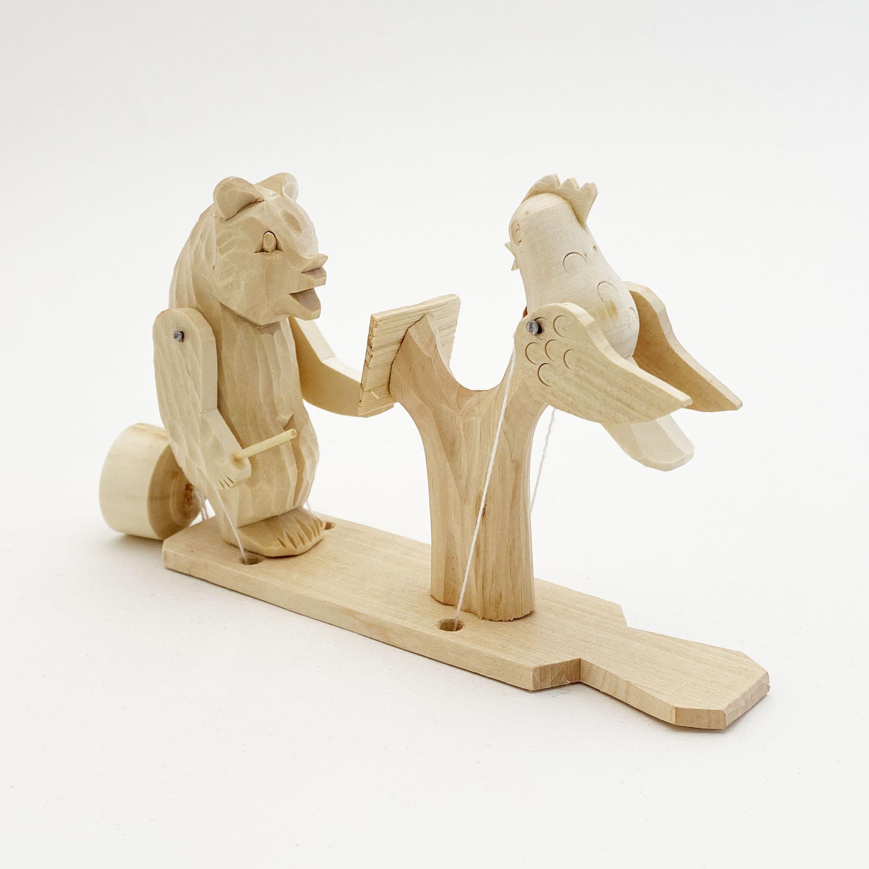 ボゴロツコエ木地玩具「クマの指揮者」