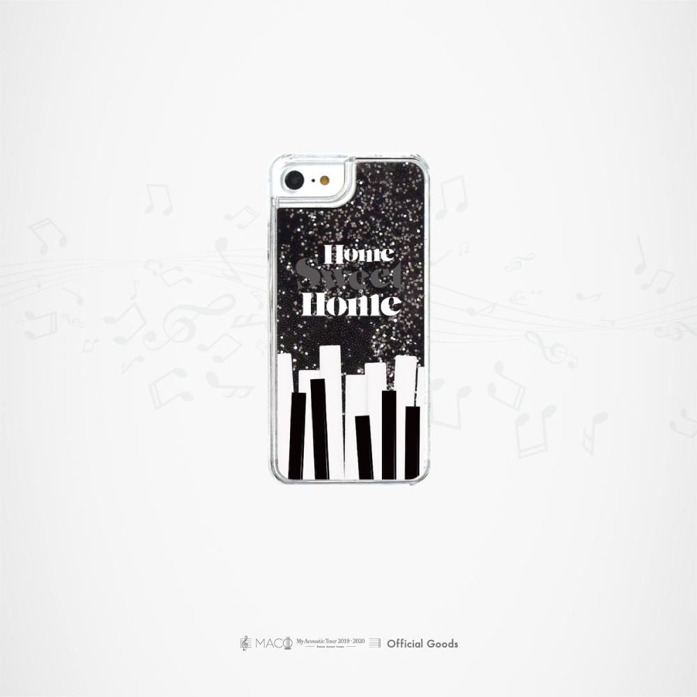 """""""Sweet Home"""" グリッターiPhoneケース[ブラック]"""