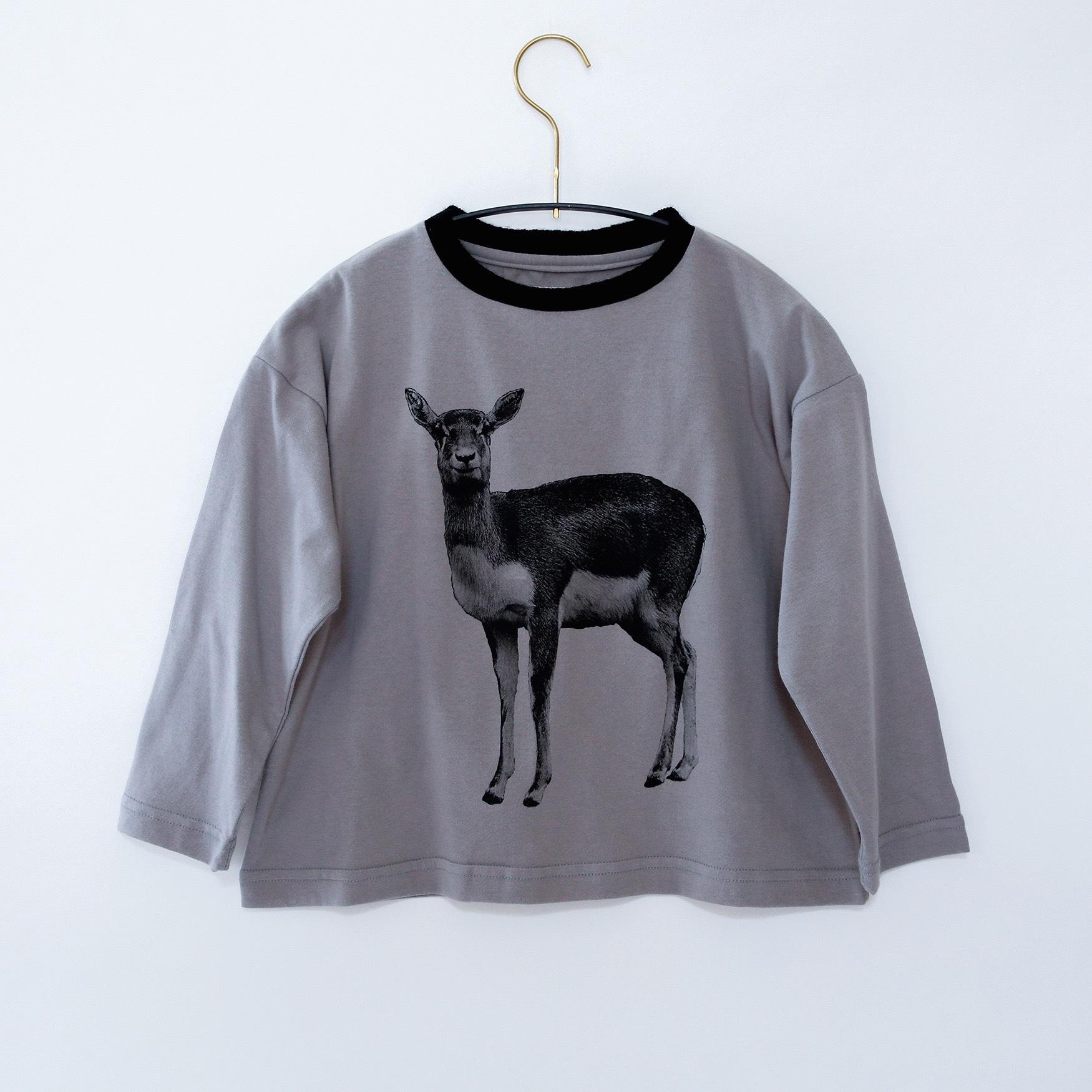 《michirico 2020AW》Deer longsleeveT / ashgray / S・M
